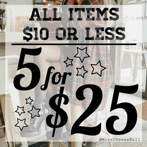 Other - 5 for $25 all items $10 or less!